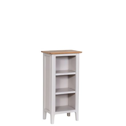 Newhaven Painted Grey Painted Small Narrow Bookcase